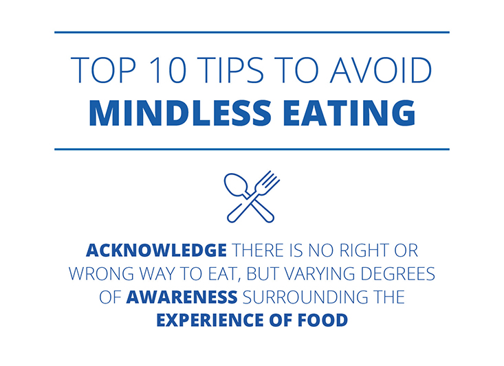 Top 10 Tips to Avoid Mindless Eating