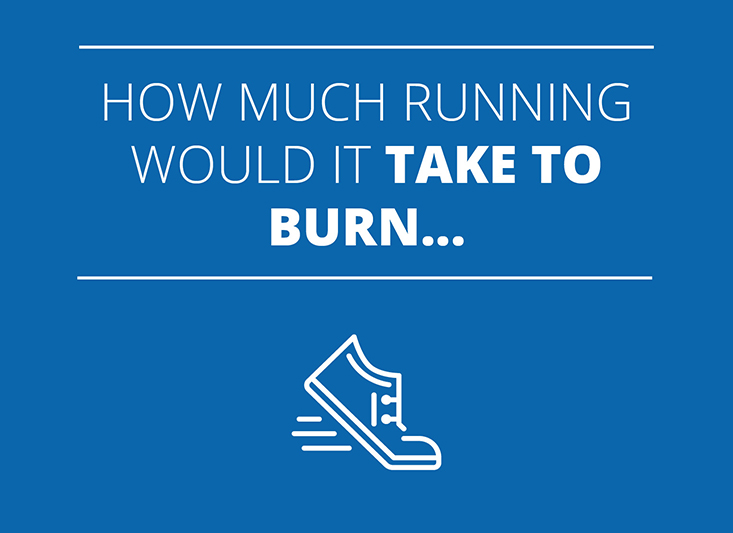 How much running would it take to burn